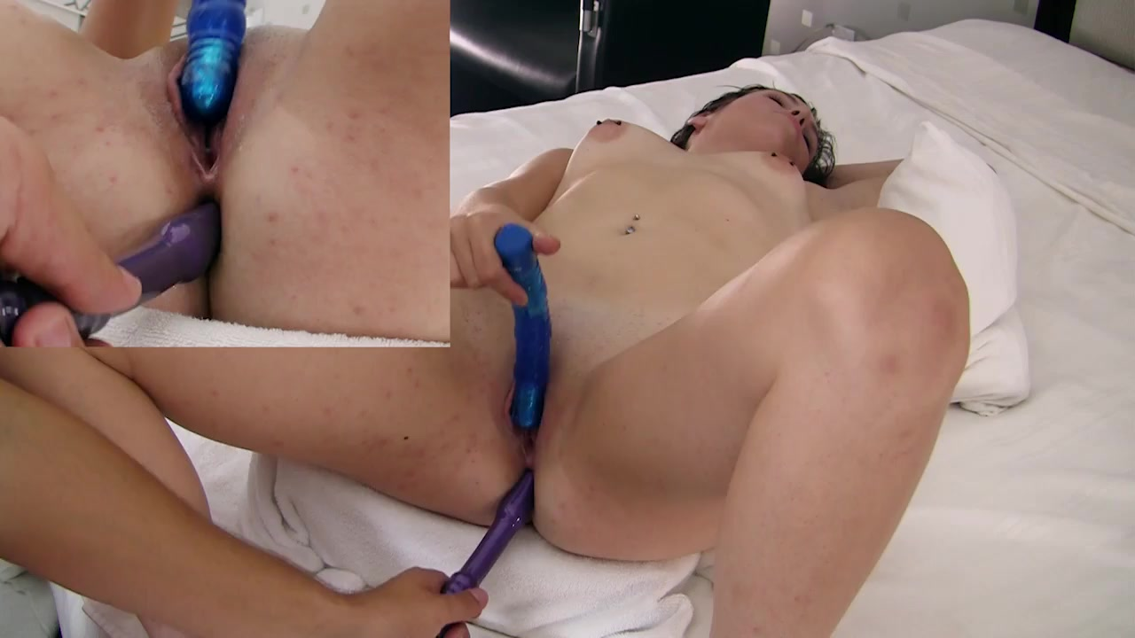 Anal toy play excites this pretty girl to suck a dick