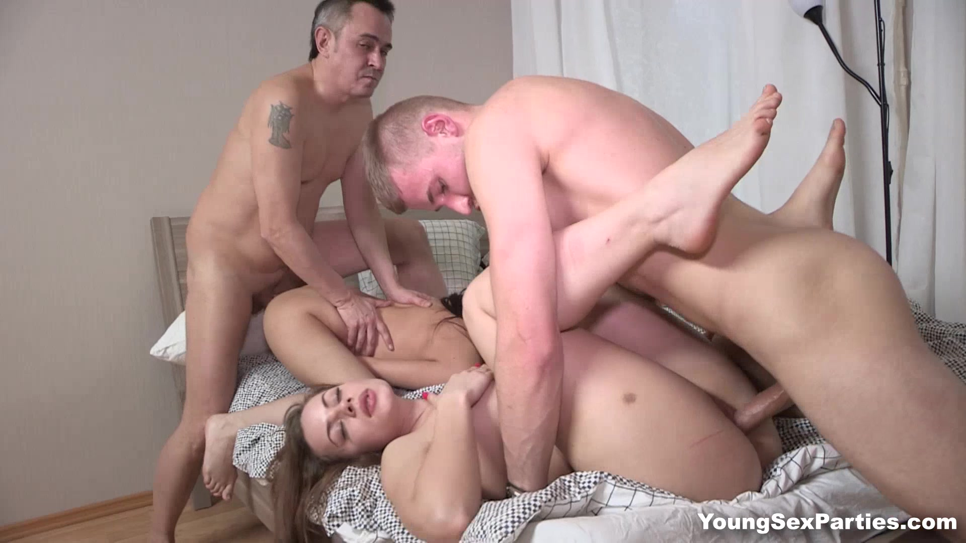 Young Sex Parties - Grace - Rita Milan - Strip games and foursome fucking