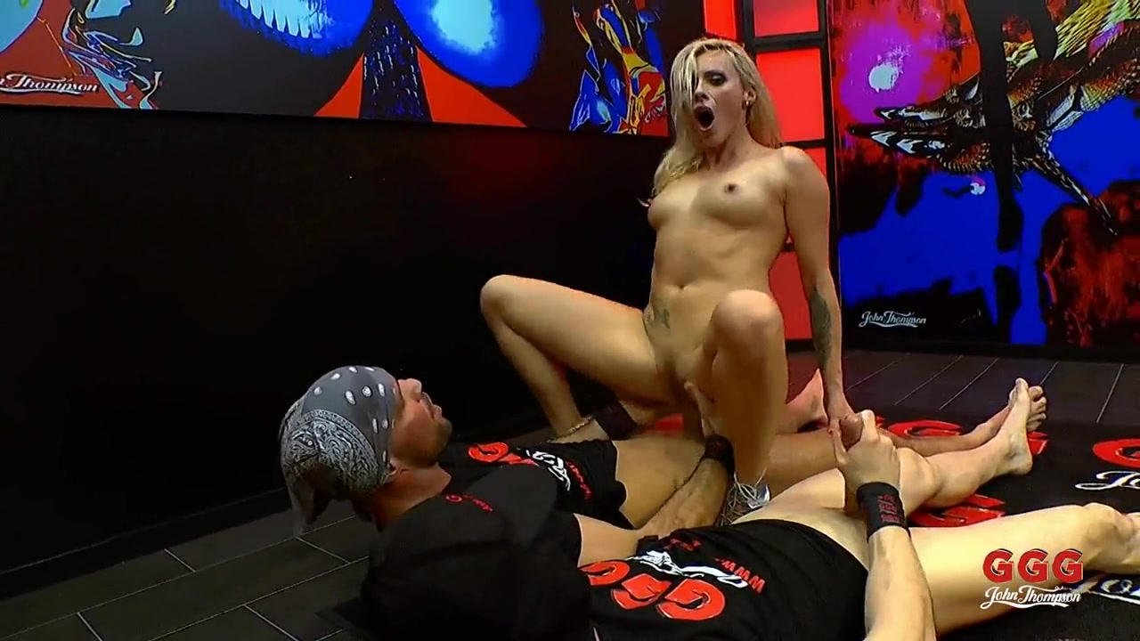 Milf swallows loads from a couple of guys