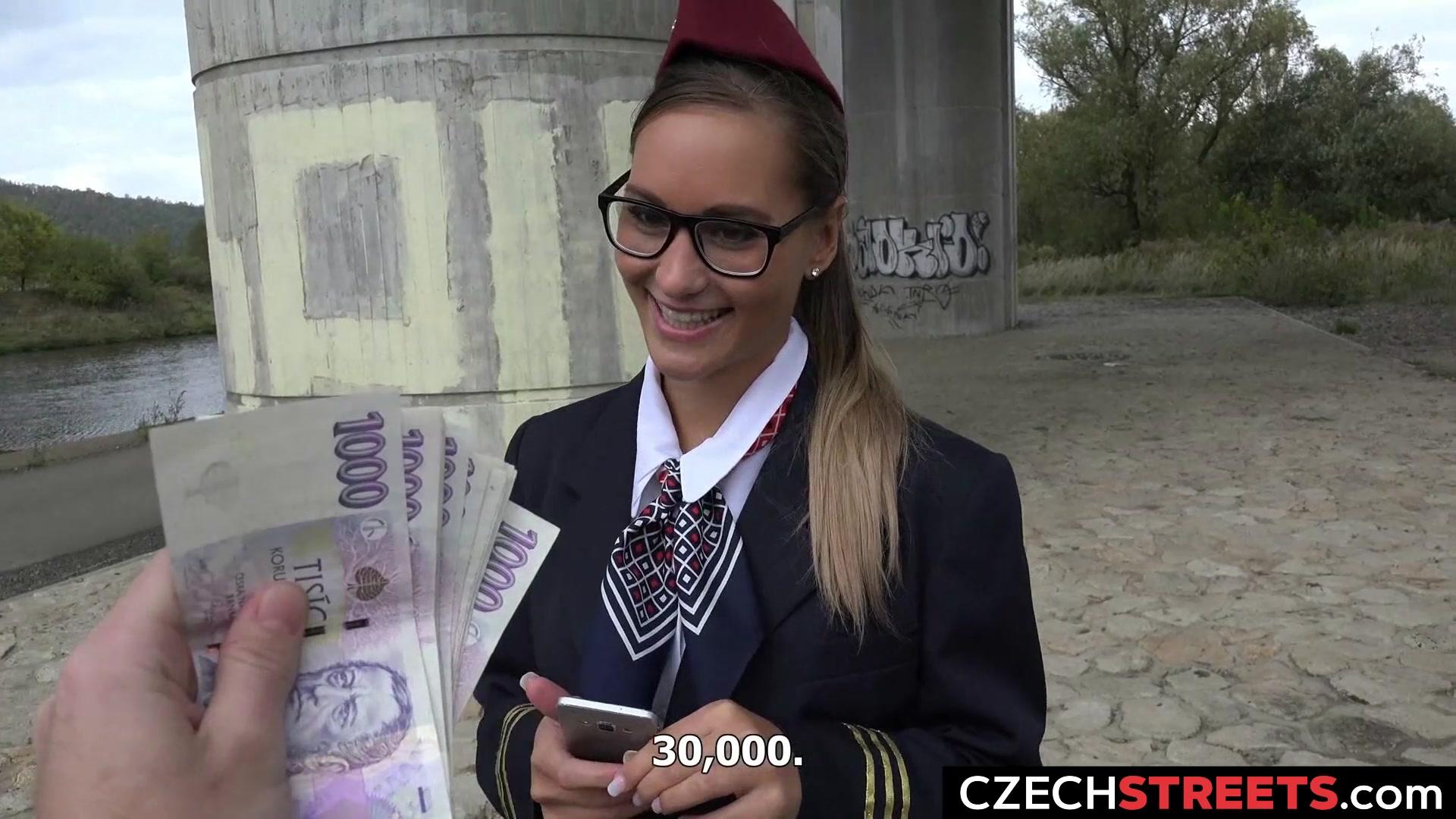 Stewardess Gets Cash for Sex