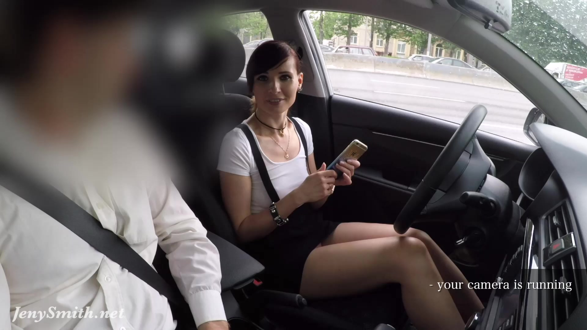 Dealer's manager caught she had no panties during test drive
