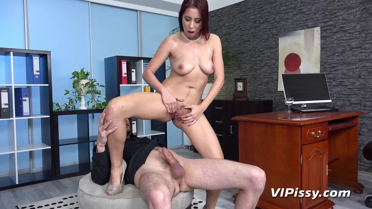 Secretary lets him pour piss in her mouth and fuck her