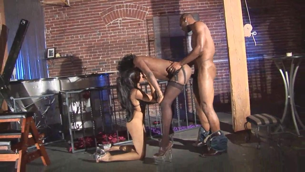 Kinky black girls in heels fucked by his big black cock