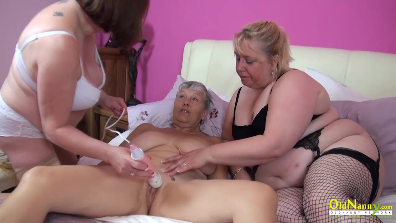 Three old lesbians have naughty fun together