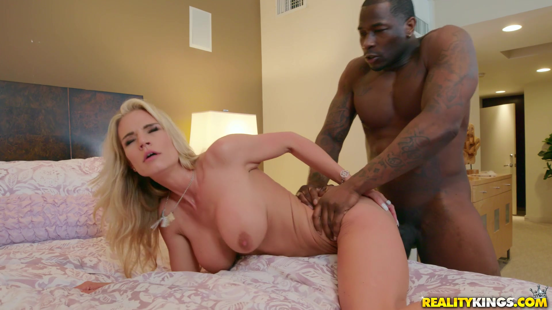 Deep anal for the married blonde who loves the BBC so much
